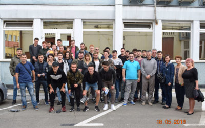 Visit of the students from the Technical University of Cluj-Napoca.